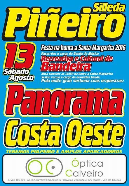 Silleda 2016 - Festas de Santa Margarita de Piñeiro - cartel