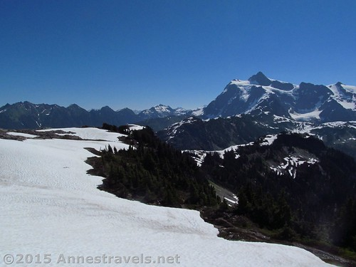 Snowfields and Mt. Shuksan from Table Mountain, Mount Baker-Snoqualmie National Forest, Washington