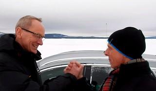 OPC Wintertests: Opel-Chef Karl-Thomas Neumann und OPC-Chef Volker Strycek