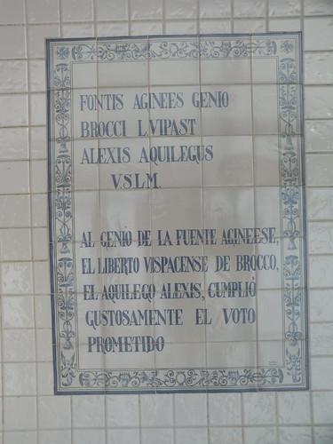 Inscripción romana del Balneario