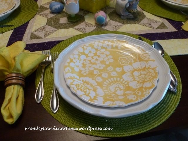 Easter tablescape - 2