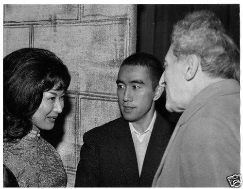 Jean Cocteau Yukio Mishima & Keiko Kishi ( born 1932 she played in Early Spring - Yasujirô Ozu 1956
