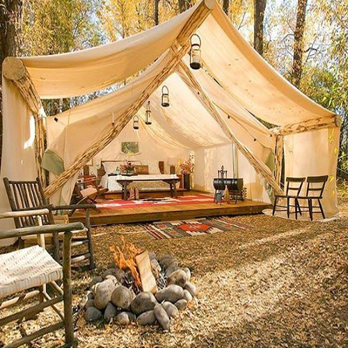 This tent is the definition of luxury! #camping #outdoors