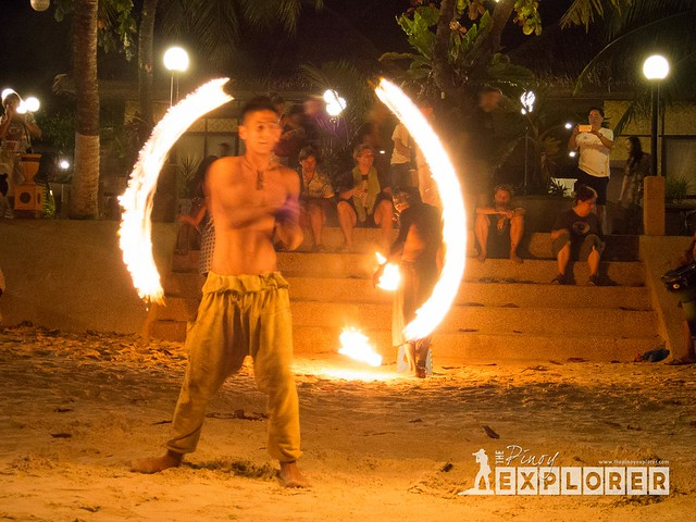 Alona Beach Fire Dancers