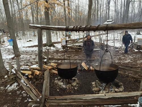 Marmites traditionnelles de cuisson du Sirop d'érable