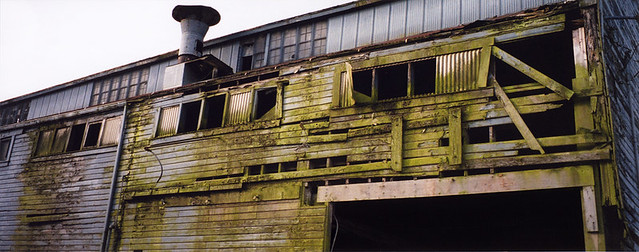 La Conner, Washington: Building of Green Weathered Wood