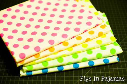 Neon dot backing fabric