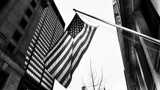 American Flag downtown Chicago