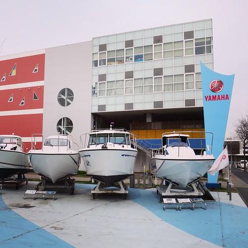 ボート、たくさんおった。 #ヤマハマリン