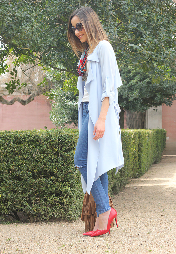 blue trench jeans zara fringe bag03