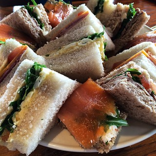 Afternoon tea: The finger sandwiches.
