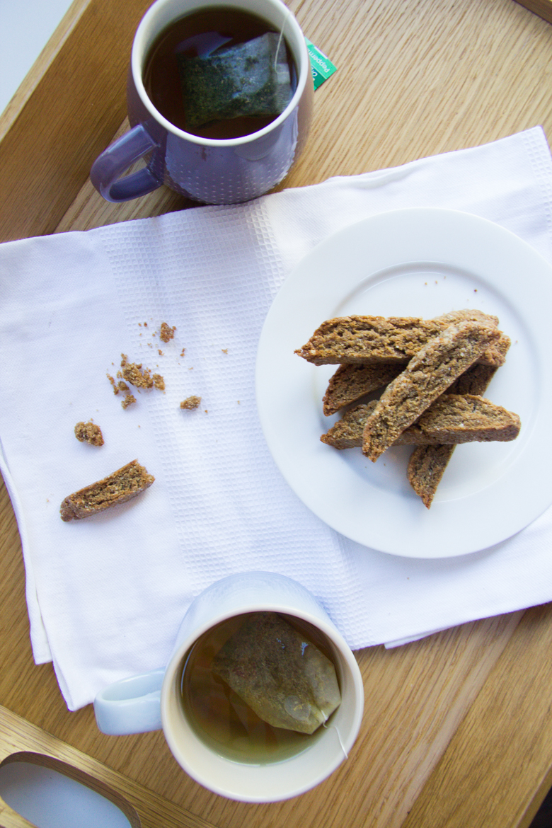 gingerbread buckwheat biscotti