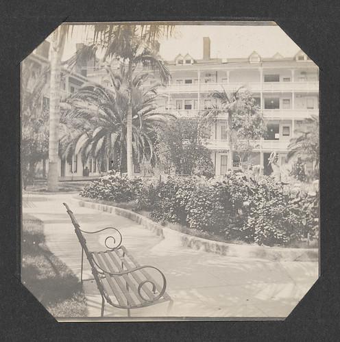 [Courtyard of the Hotel Coronado]
