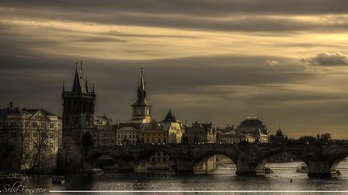 city travel bridge sunset sky sunshine rio clouds contraluz atardecer nikon flickr prague ciudad charles carlos praga nubes vltava hdr traveler checa karlůvmost republicacheca moldava d7000 sebafonseca