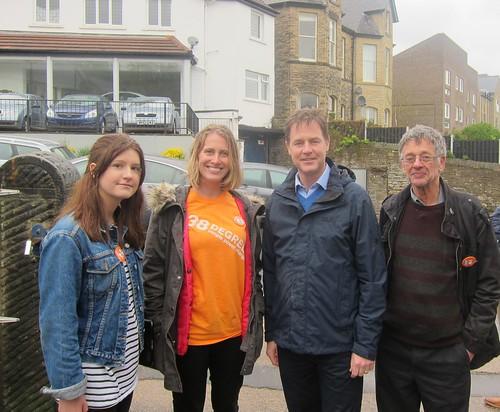 Meeting Nick Clegg in Sheffield