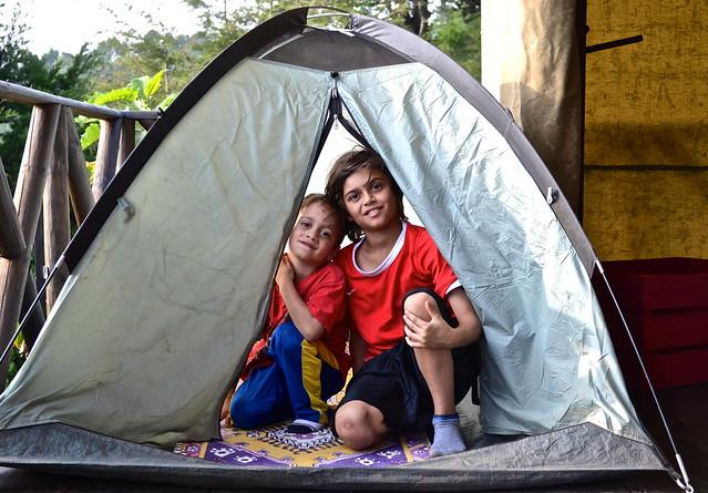 Camping buddies - Green Rush Nature Park, Guatemala