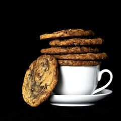 Nutella Milk Chocolate Chip Cookies