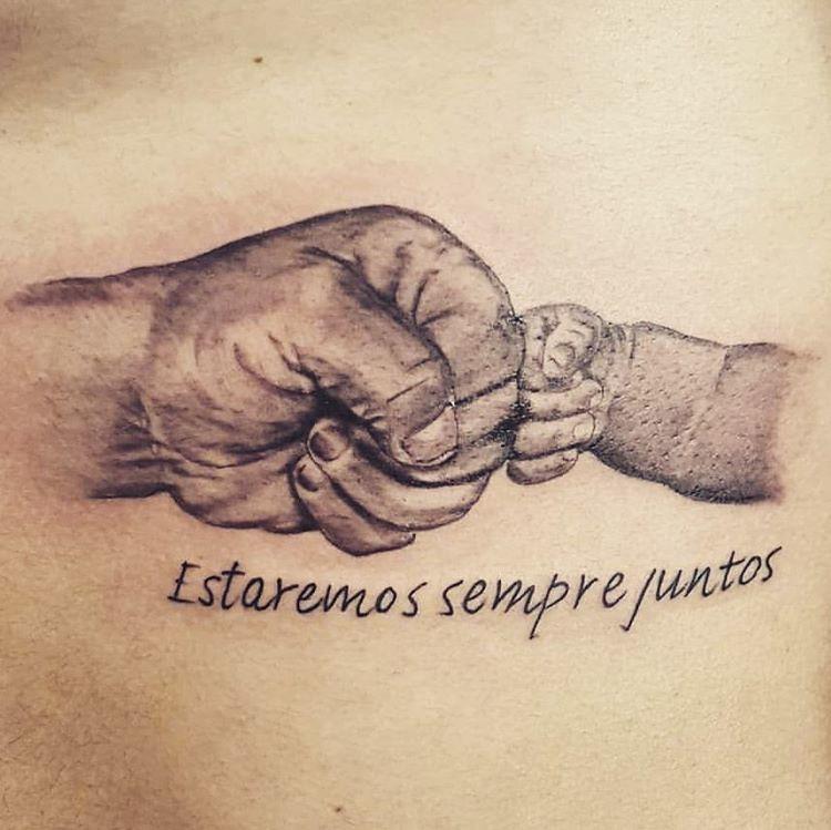 Fotos De Tatuagem De Pai E Filha: Amor E Pareceria Eterna. Tatuagem De Pai Pra Filho. Feita
