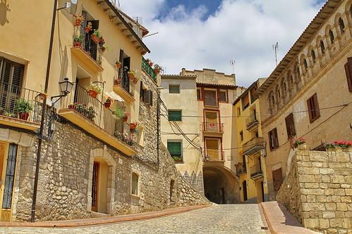 Calle Codera, en Fonz (Huesca - Aragón)
