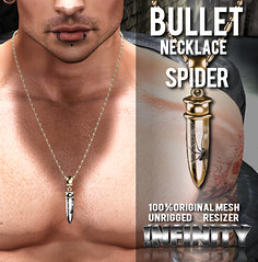 !NFINITY Bullet Necklace - Spider