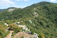 Monte Gennaro (1,271 m asl) dalla torretta di Monte Morrone della Croce (1,051 m asl)