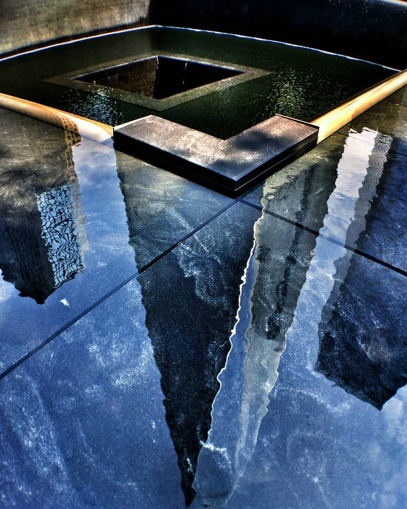 Reflection in memory  #Newyork #nyc #newyorkcity #manhattan #twintowers #memorial #911 #Photo #Photography #worldtradecenter #Travel #travelgram #trip #iloveny #ilovenyc #newyorkphoto #instacool #instanewyork #mynyc #bigapple #thebigapple #Architecture #a