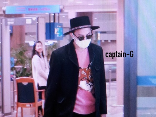G-Dragon - Incheon Airport - 28jan2015 - Captain G - 01