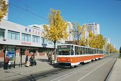 Tatra tram on Tongil street