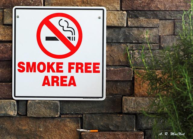 Smoke Free Area - Kelowna, British Columbia