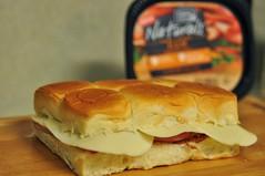 sandwich, breakfast, ciabatta, food, dish, cuisine, cheddar cheese,