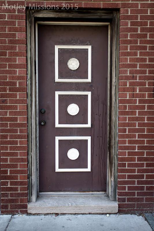 3 squares door