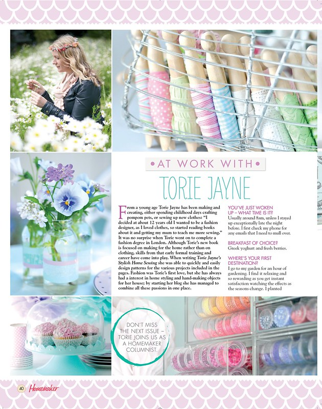 Torie Jayne in Homemaker Magazine issue 30