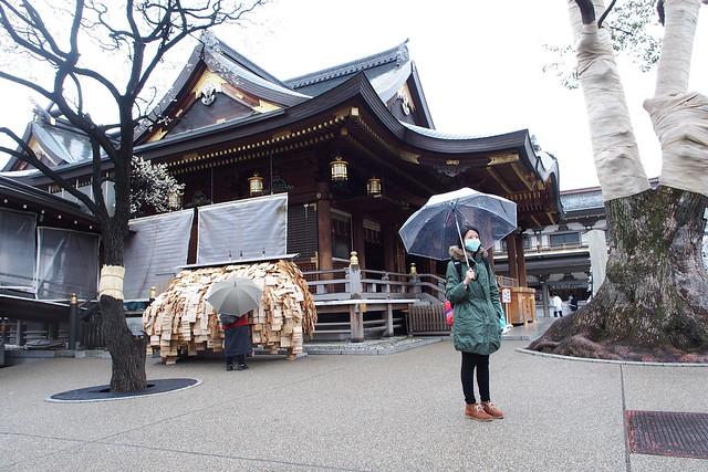 來到東京第一次遇見雪 | 湯島天滿宮