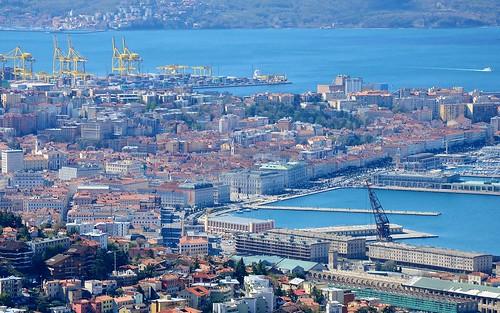 city roof sea italy building water skyline architecture italia cityscape view trieste friuli istria piazzaunitaditalia