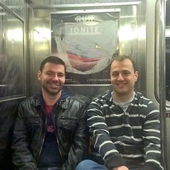 Cruising along on the subway in NYC