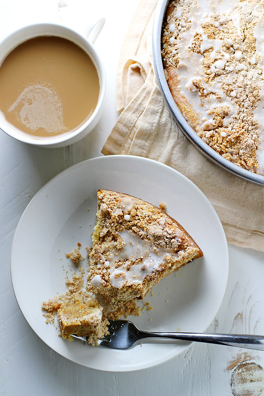 Cream Cheese Swirl Carrot Coffee Cake | girlversusdough.com @stephmwise