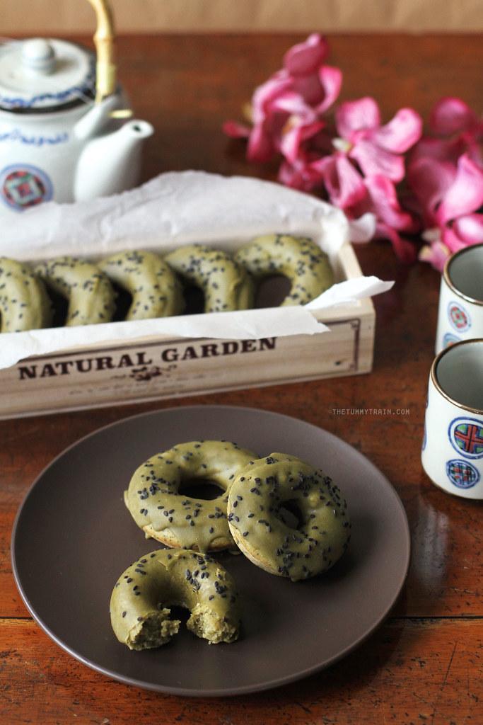 16688260294 ef35dbcfdc b - Baked Matcha Doughnuts for my Japan Hangover