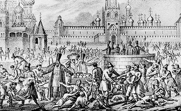Great Famine of 1601 on 19th-century engraving