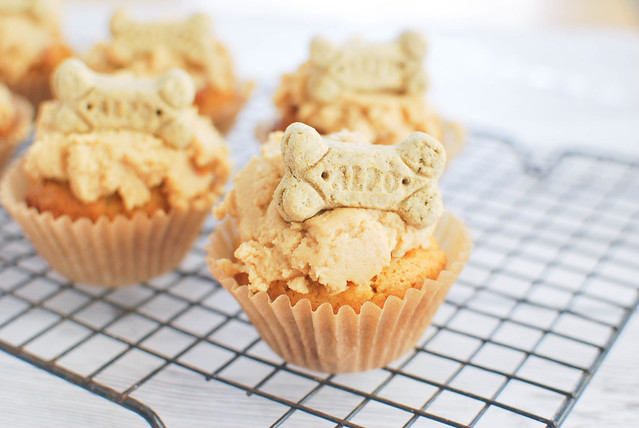 Peanut Butter Pupcakes - treat your dog to cake!