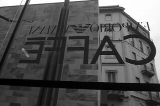 Milan - Armani Caffe sign