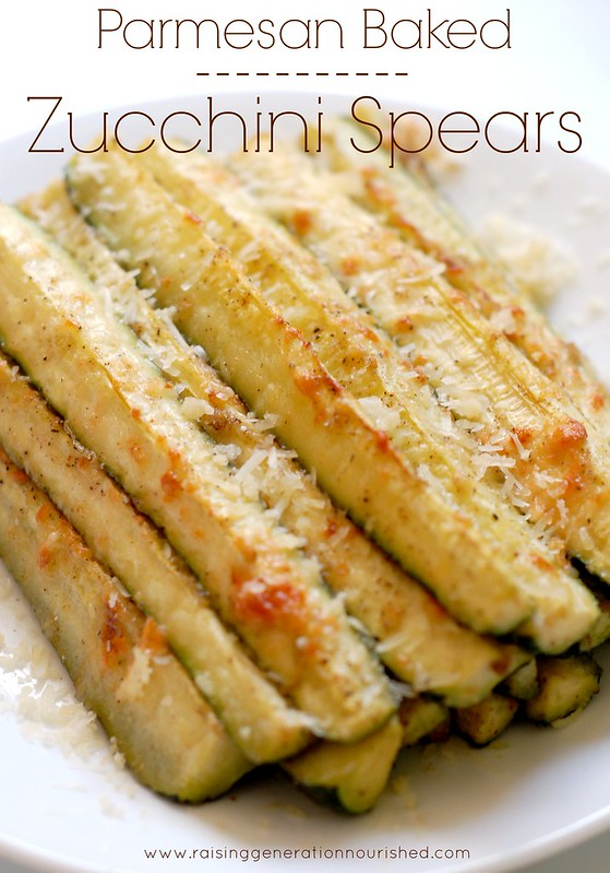 Parmesan Baked Zucchini Spears