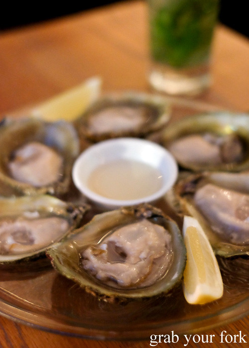 Bluff oysters at WBC Wholesale Boot Company, Wellington