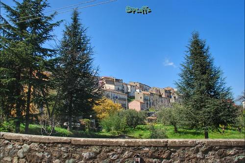 #rotagreca #calabria #trees #green #street #blue #sky #town