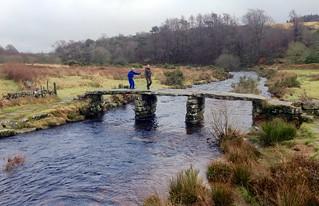Dartmoor - walking over the clapper bridge