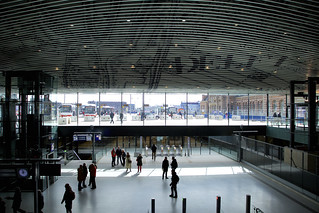 Delft's split-leveled train station by Mecanoo