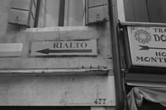 Venice - Rialto sign