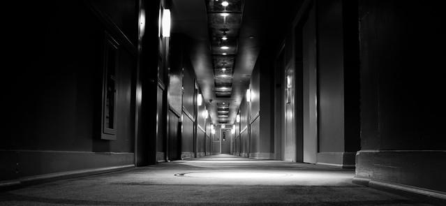 Grim Corridor b+w