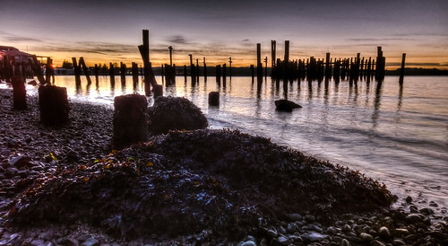 park sunset abandoned beach water rock ferry clouds washington terminal sound wa tacoma hdr remnants puget titlow