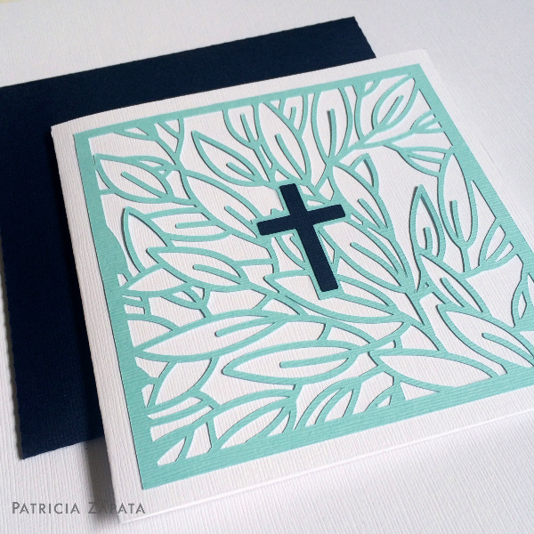 Square cross card