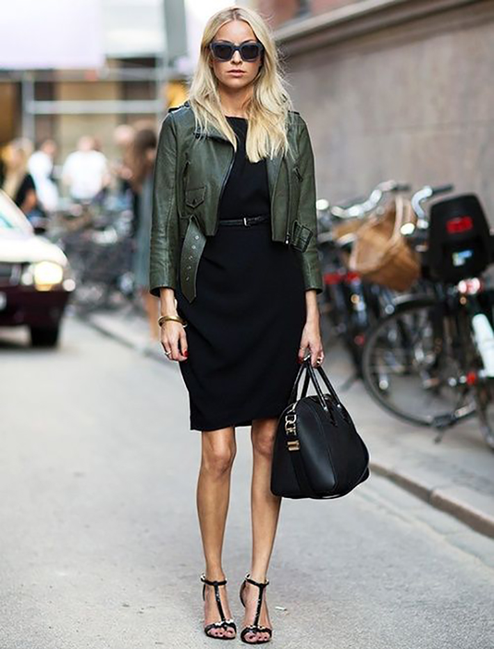 Military style green olive street style inspiration09